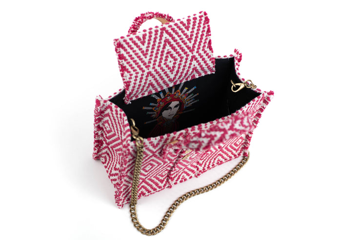 Fabric Book Tote Midi - Cali Fuchsia cs