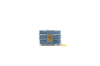 Amalfi Clutch  Denim with trim