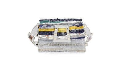 Leather & Fabric Belt Bag - Ersilia Multi / Off-White