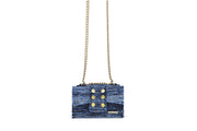 Fabric Shoulder Bag - Athena Blue