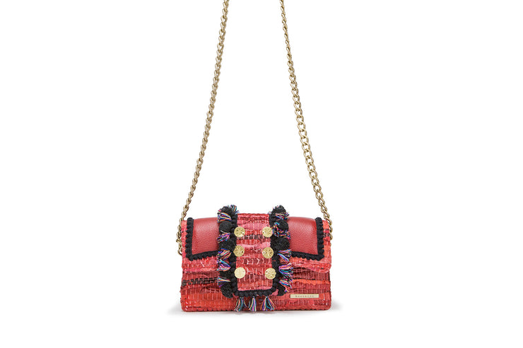"Leather Shoulder Bag - Hollywood ""Babe"" Red Passion"