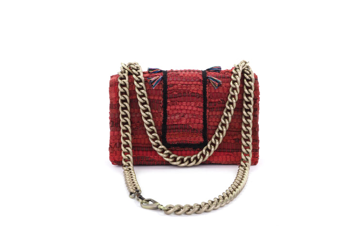 Leather Shoulder Bag - New Yorker Soho Red