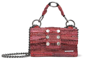"Leather Shoulder Bag - New Yorker Soho ""Angel"" Red"