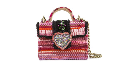 Fabric Shoulder Bag - Petite Divine Fuchsia