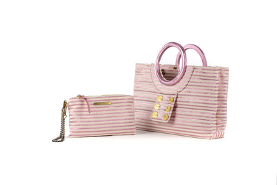 Ring Tote with Pocket Purse in Rosa