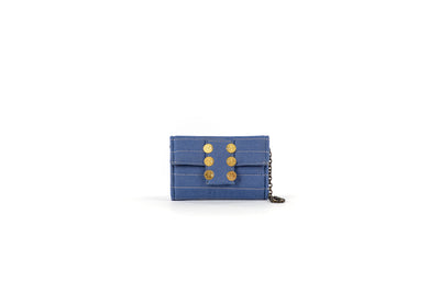 Amalfi Clutch in Seaqual Denim