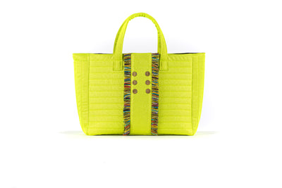 Book Tote  Fluorescent  Yellow
