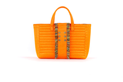 Book Tote  Fluorescent  Orange