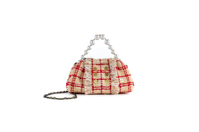 Shell The Pouch Beige/Red