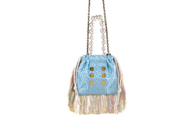 Pouch Bag Fetching Light Blue
