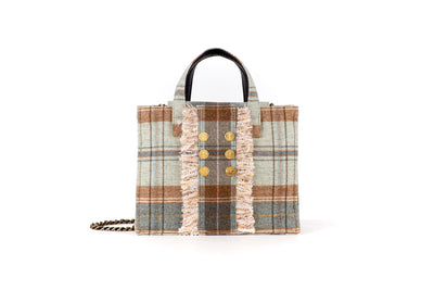 Book Tote Diana Plaid