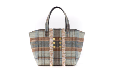Book Tote  V Plaid