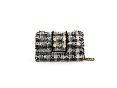 Tweed Shoulder Bag - SoHo Cicadas Off White / Grey