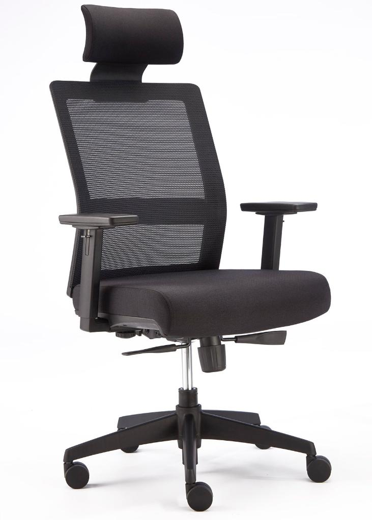 Fuse Mesh Back Chair with Head Rest - Wellback Shop