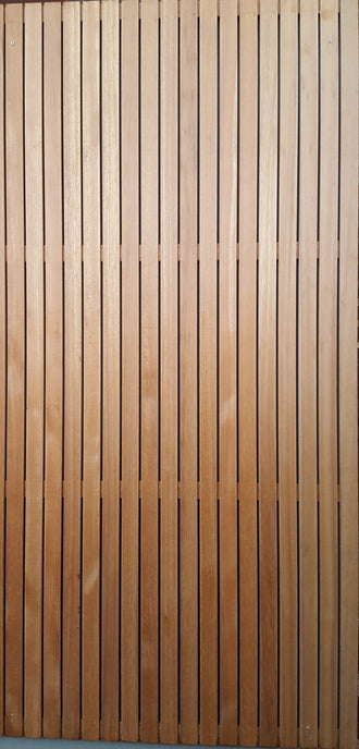 *NEW* Lotus Premium Designer Hardwood Screens: Vertical Slat (Natural)