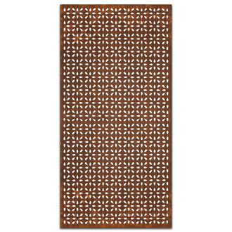 Extra Large Rust Metal Screen: Frangipani