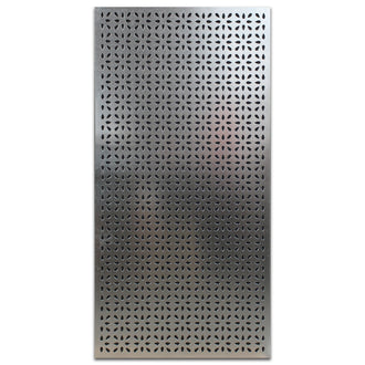 Extra Large Galvabond Metal Screen: Frangipani