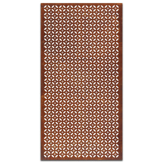 Extra Large Rust Metal Screen: Sazanka