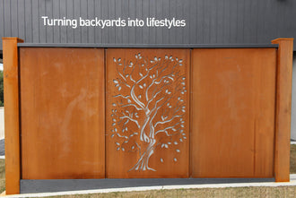 Corten Steel Rust Screens: Plain Panel