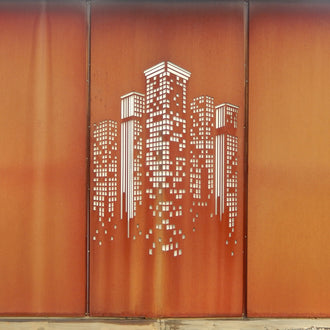 Extra Large Corten Steel Rust Screens: Skyscraper