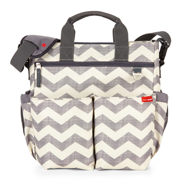 Skip Hop Duo Signature Changing Bag - Chevron Grey