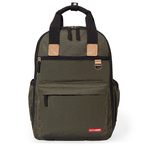 Skip Hop Duo Backpack - Olive Mini Grid