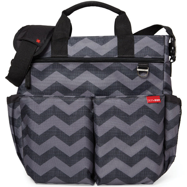 Skip Hop Duo Signature Changing Bag - Chevron Dark Grey