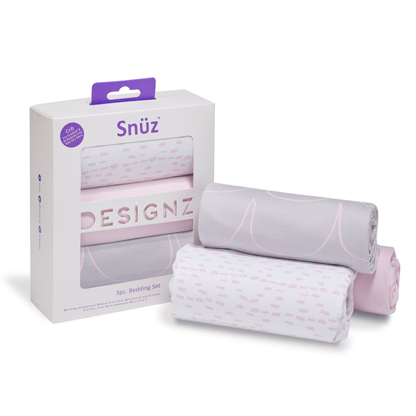 Snuz Crib Bedding Set - Wave Rose
