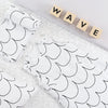 Snuz Crib Bedding Set - Wave Mono
