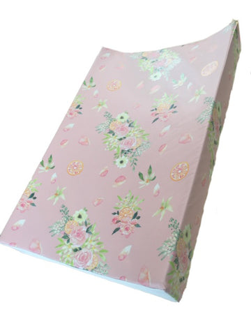 The Gilded Bird Luxury Changing Mat - Peach Orange Bloom