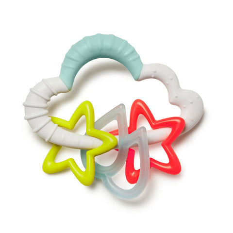 Skip Hop Silver Lining Cloud Starry Teething Rattle