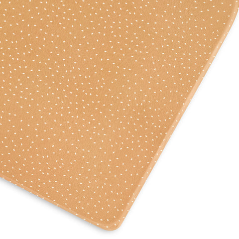 Little Green Sheep Organic Cot and Cotbed Fitted Sheet - Honey Rice