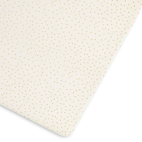 Little Green Sheep Organic Cot and Cotbed Fitted Sheet - Linen Rice