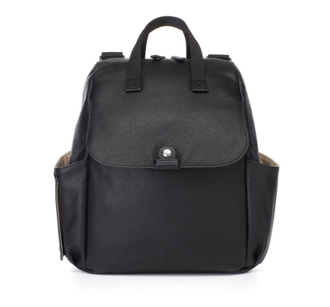 Babymel Robyn Convertible Backpack Faux Leather - Black