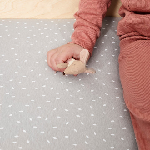 Little Green Sheep Organic Cot and Cotbed Fitted Sheet - Dove Rice