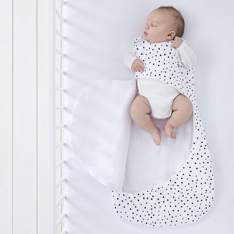 SnuzPouch Baby Sleeping Bag - Mono Spots