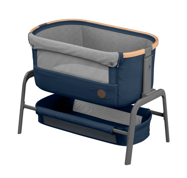 Maxi Cosi Iora Co-Sleeper - Essential Blue pre order for end of September delivery