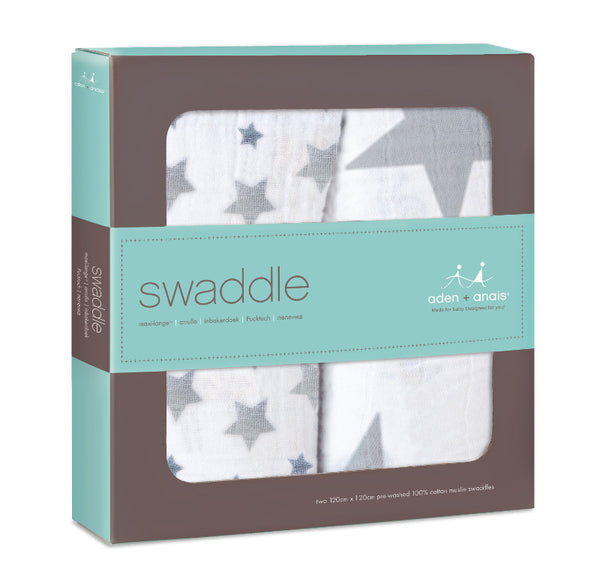 Aden + Anais 2pk Classic Swaddles - Twinkle