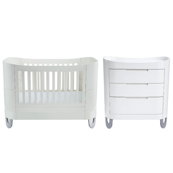 Gaia Baby Serena Complete Sleep Room Set - White