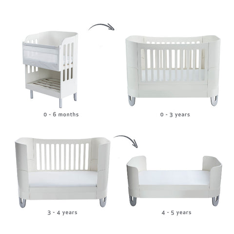 Gaia Baby Serena Complete Sleep+/Co-Sleep - White