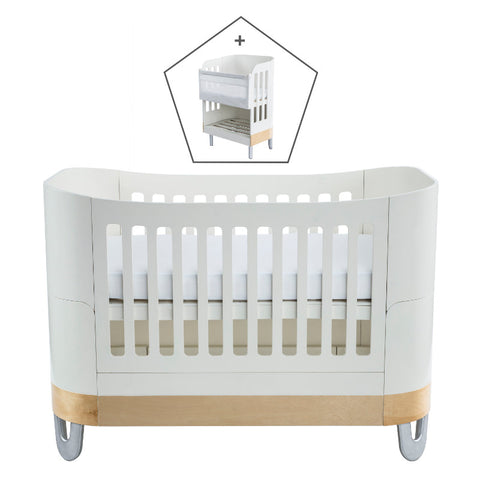 Gaia Baby Serena Complete Sleep+/Co-Sleep - White/Natural