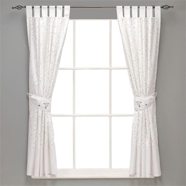 Silver Cloud Fully Lined Curtains & Tie Backs