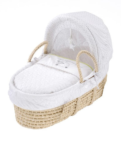 Silver Cloud Counting Sheep Moses Basket