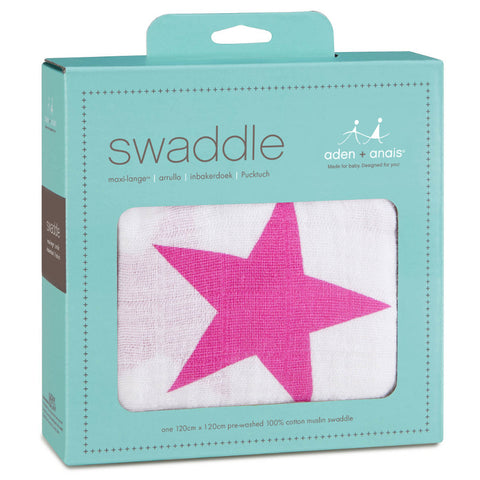 Aden + Anais Classic Swaddle - Twinkle Pink