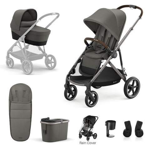 Cybex Gazelle S Package - Taupe Frame/Soho Grey