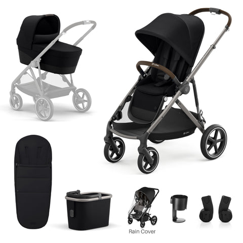 Cybex Gazelle S Package - Taupe Frame/Deep Black