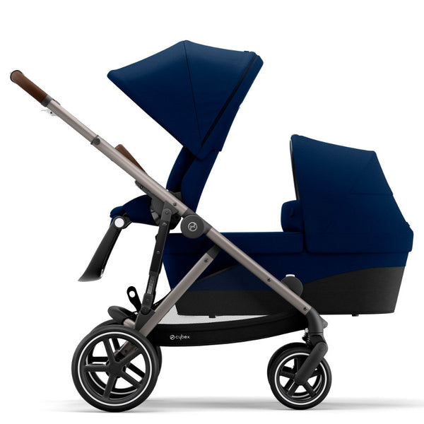 Cybex Gazelle S Toddler/Newborn Package - Taupe Frame/Navy Blue