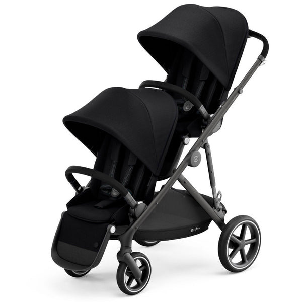Cybex Gazelle S Twin Package - Black Frame/Deep Black