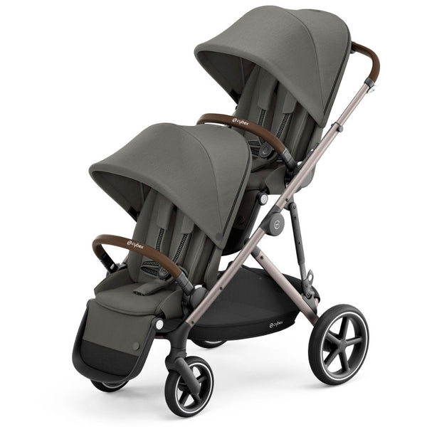 Cybex Gazelle S Twin Package - Taupe Frame/Soho Grey