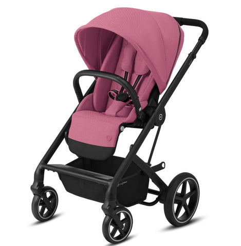 Cybex Balios S Lux Travel System Package - Black Frame/Magnolia Pink